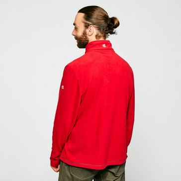 Red Craghoppers Evans Half Zip Fleece