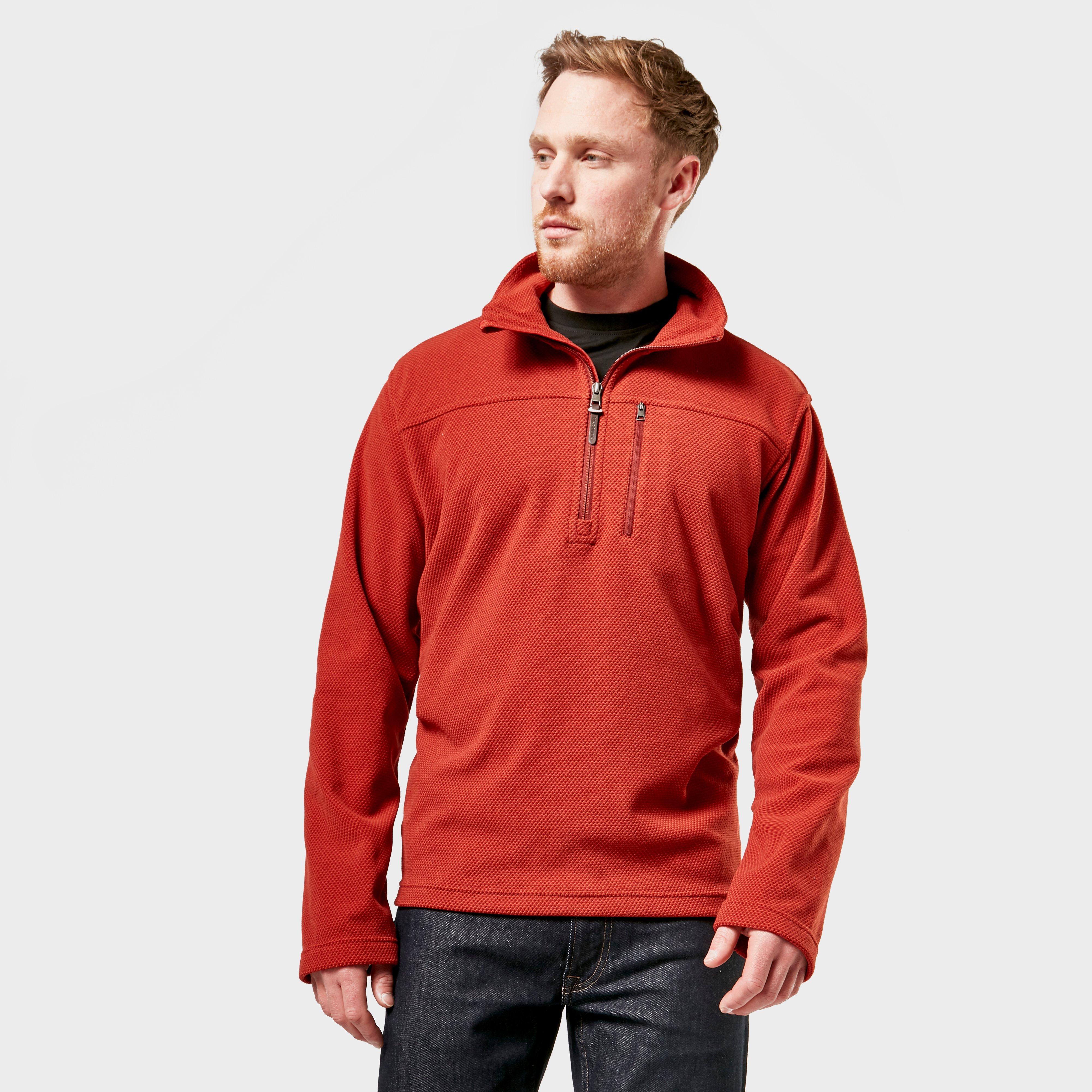 Brasher Men's Fountains Half Zip Fleece - Red/Red, Red