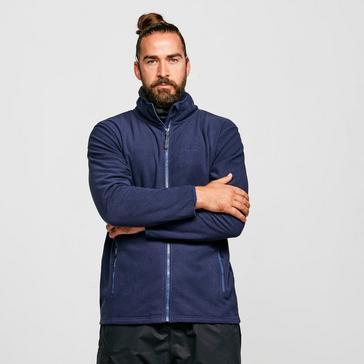 Navy Peter Storm Men's Grid Full-Zip Fleece