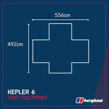 Black Berghaus Kepler 6 Tent Footprint