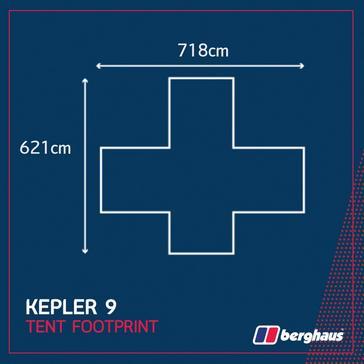 Black Berghaus Kepler 9 Tent Footprint