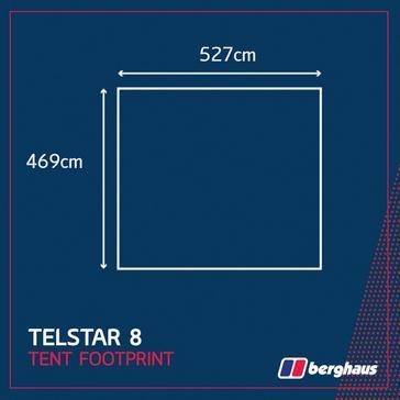 Black Berghaus Telstar 8 Tent Footprint