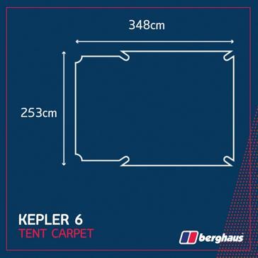 Grey|Grey Berghaus Kepler 6 Tent Carpet