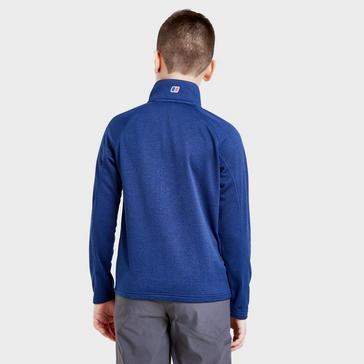 Navy Berghaus 1/4 Zip Grid Fleece Top Junior