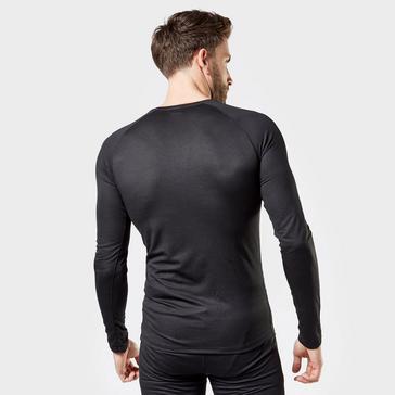 Black Odlo Men's Active F-Dry Light Long Sleeve Base Layer Top