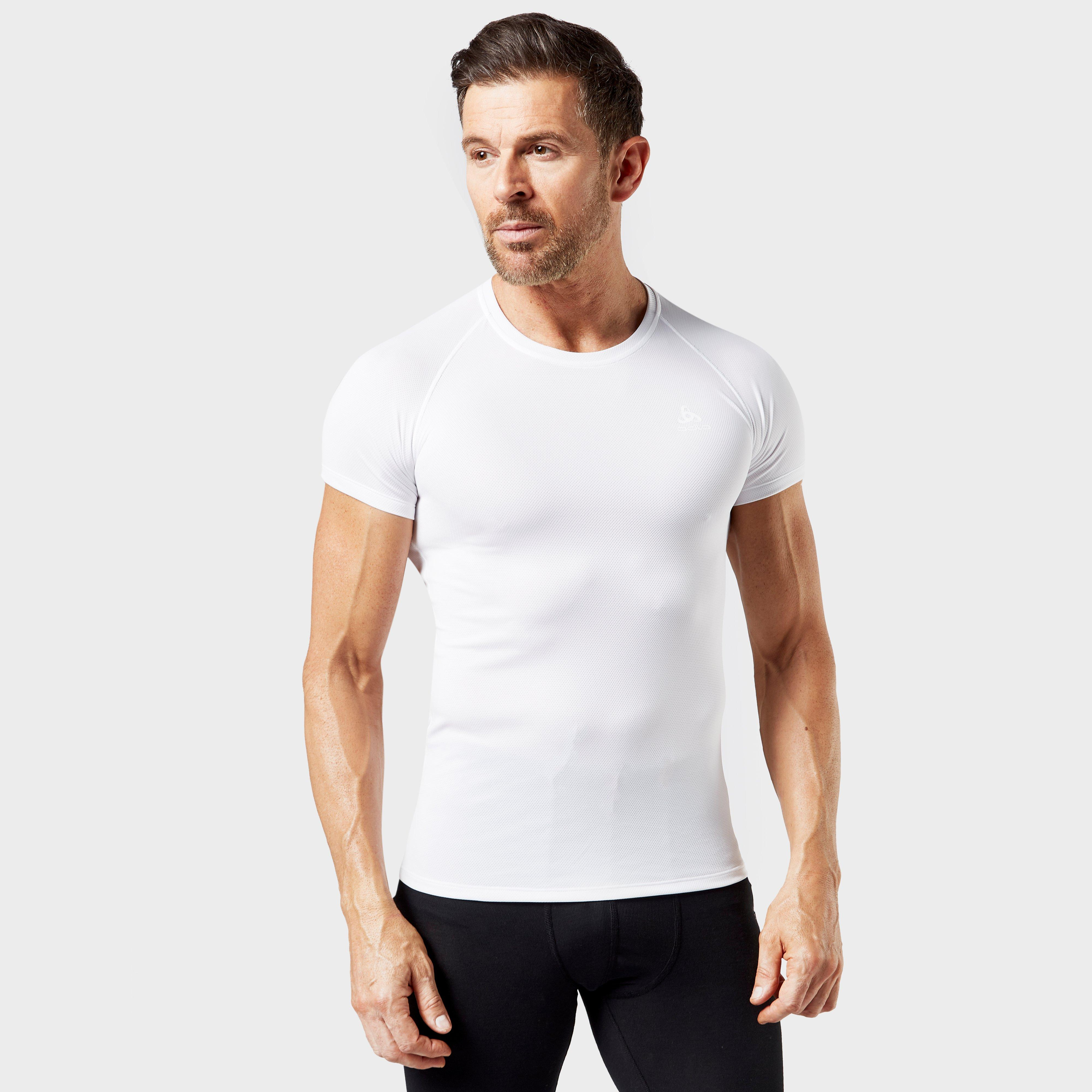 Image of Odlo Men's Active Light Short Sleeve T-Shirt - White/Wht, White/WHT