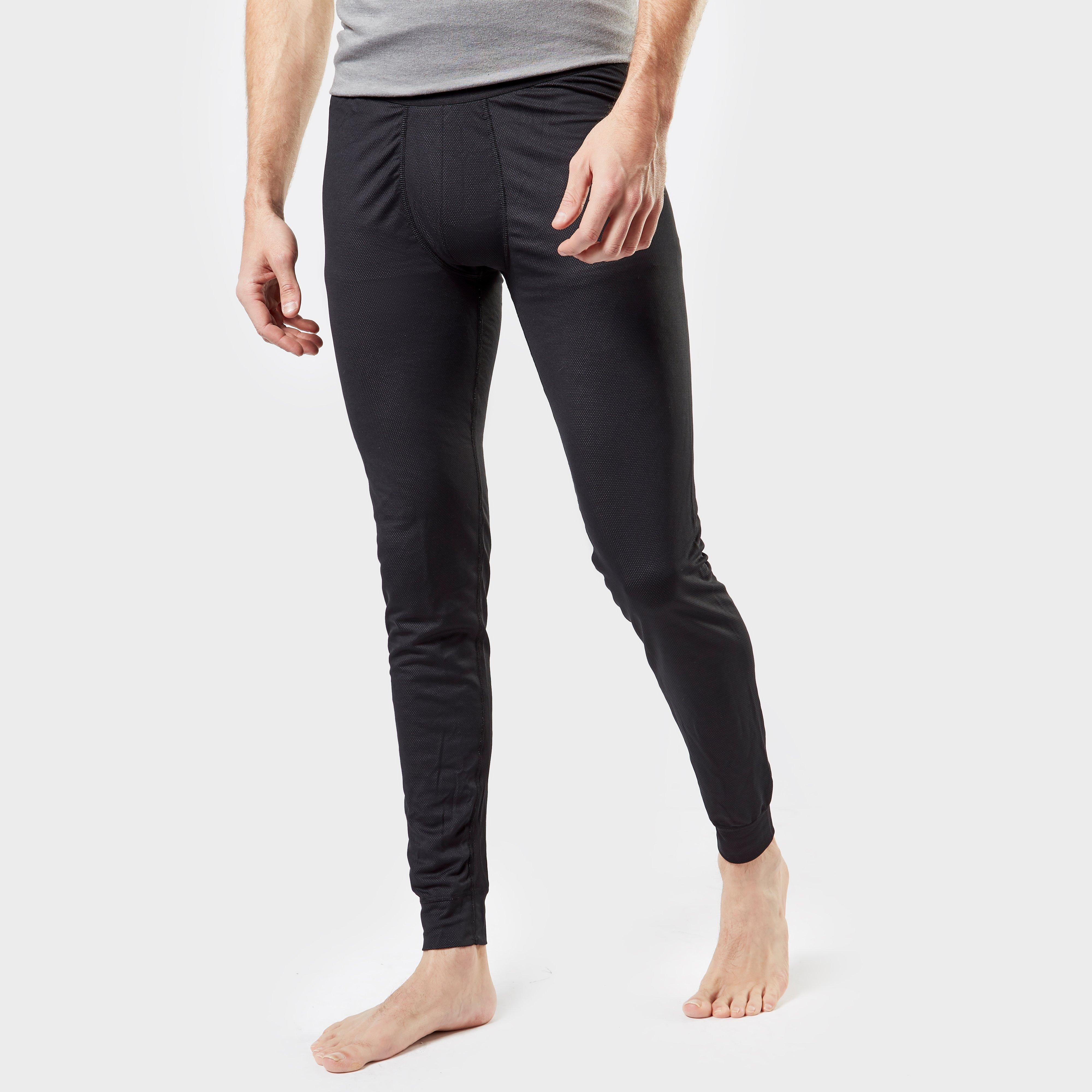 Image of Odlo Men's Active F-Dry Light Base Layer Pants - Black/Blk, Black/BLK