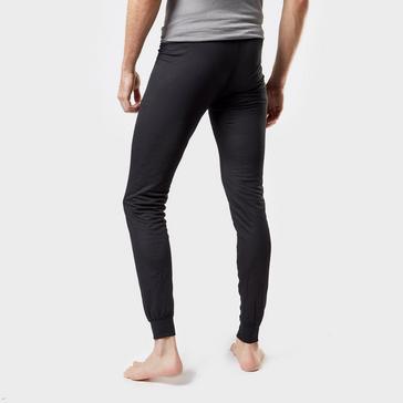 Black Odlo Men's Active F-Dry Light Base Layer Pants