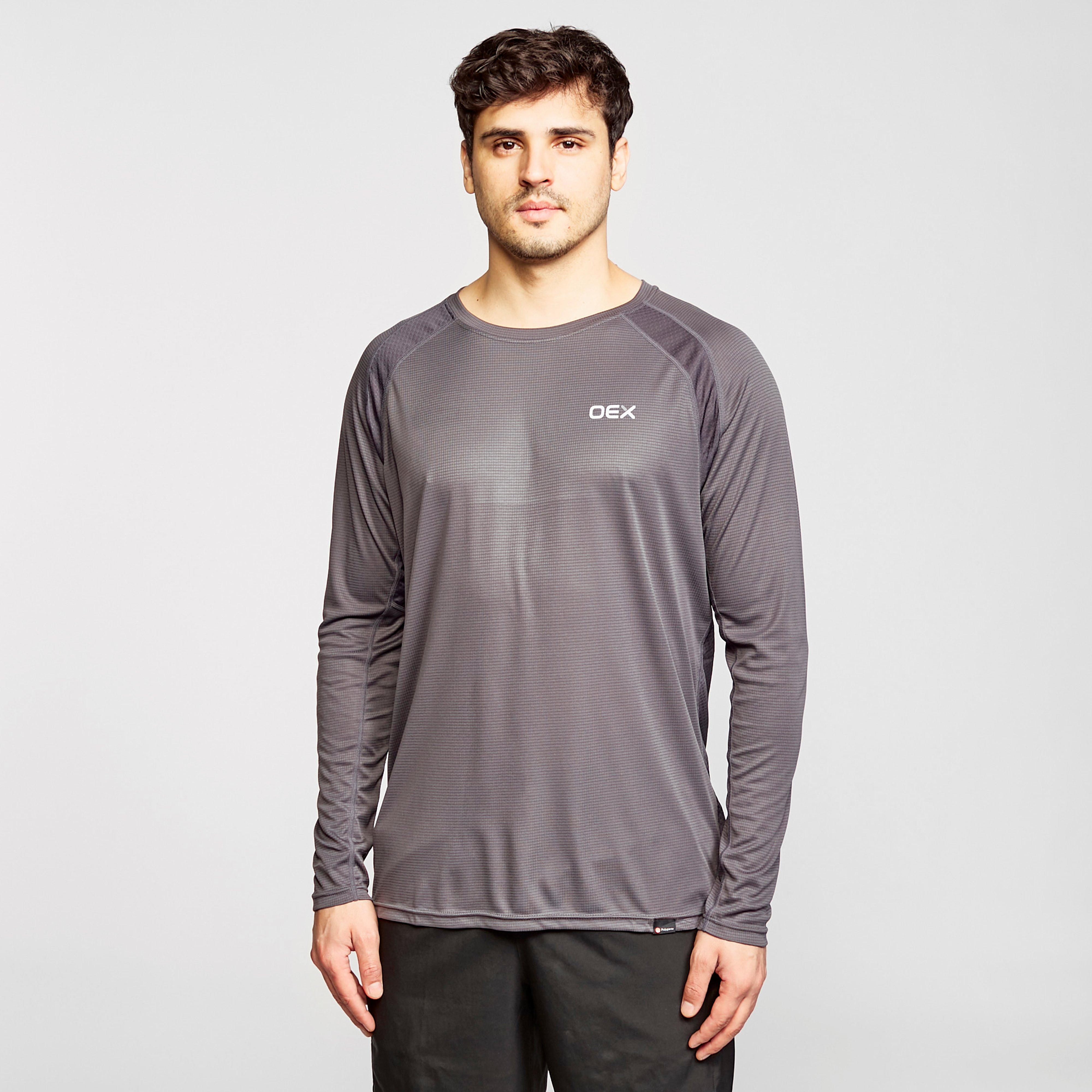Oex Oex Mens Zephyr Long Sleeve T-Shirt, Purple