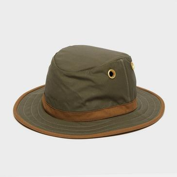 Khaki Tilley Unisex TWC7 Outback Waxed Cotton Hat