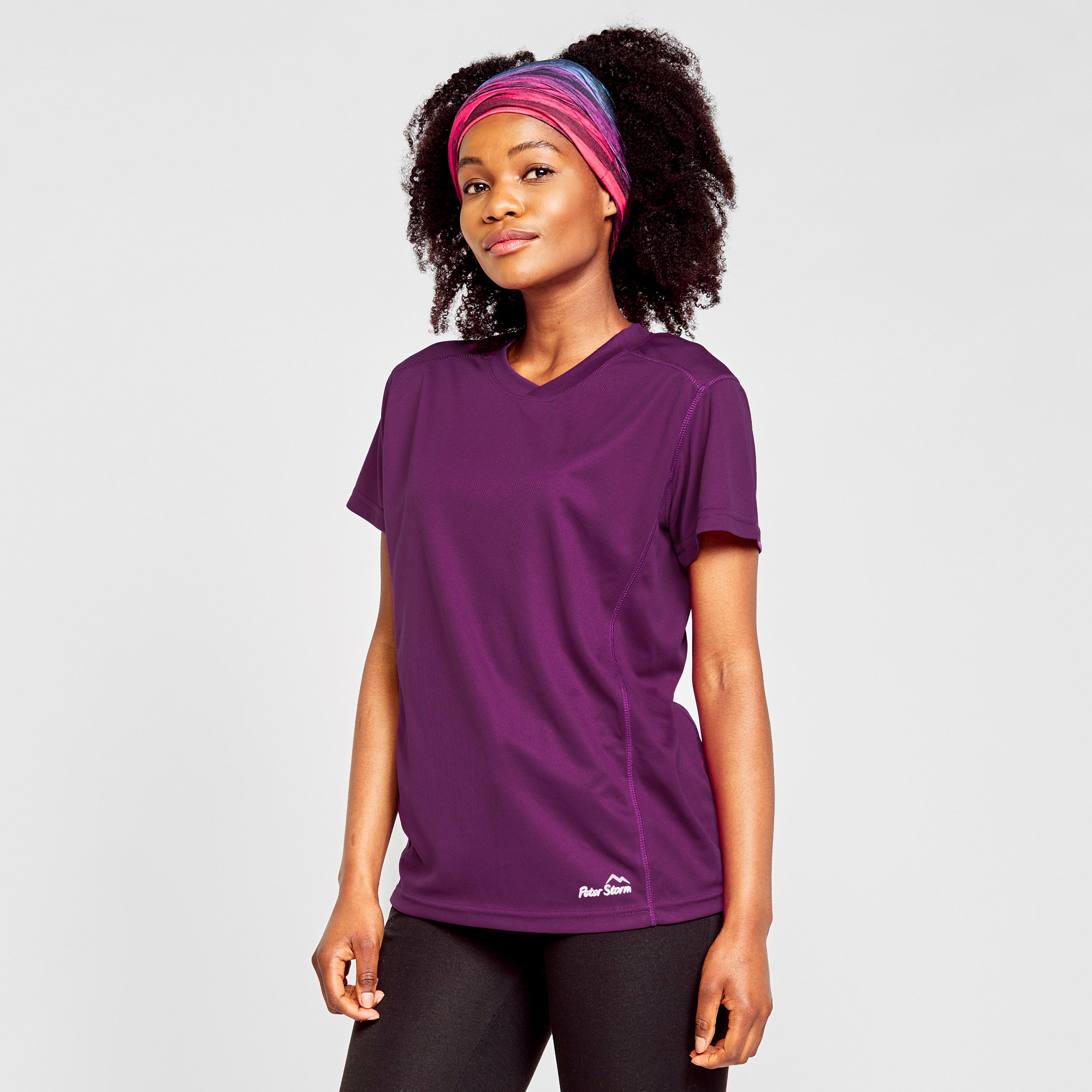 Image of Peter Storm Women's Short Sleeve Tech Tee - Purple/Pur, Purple/PUR