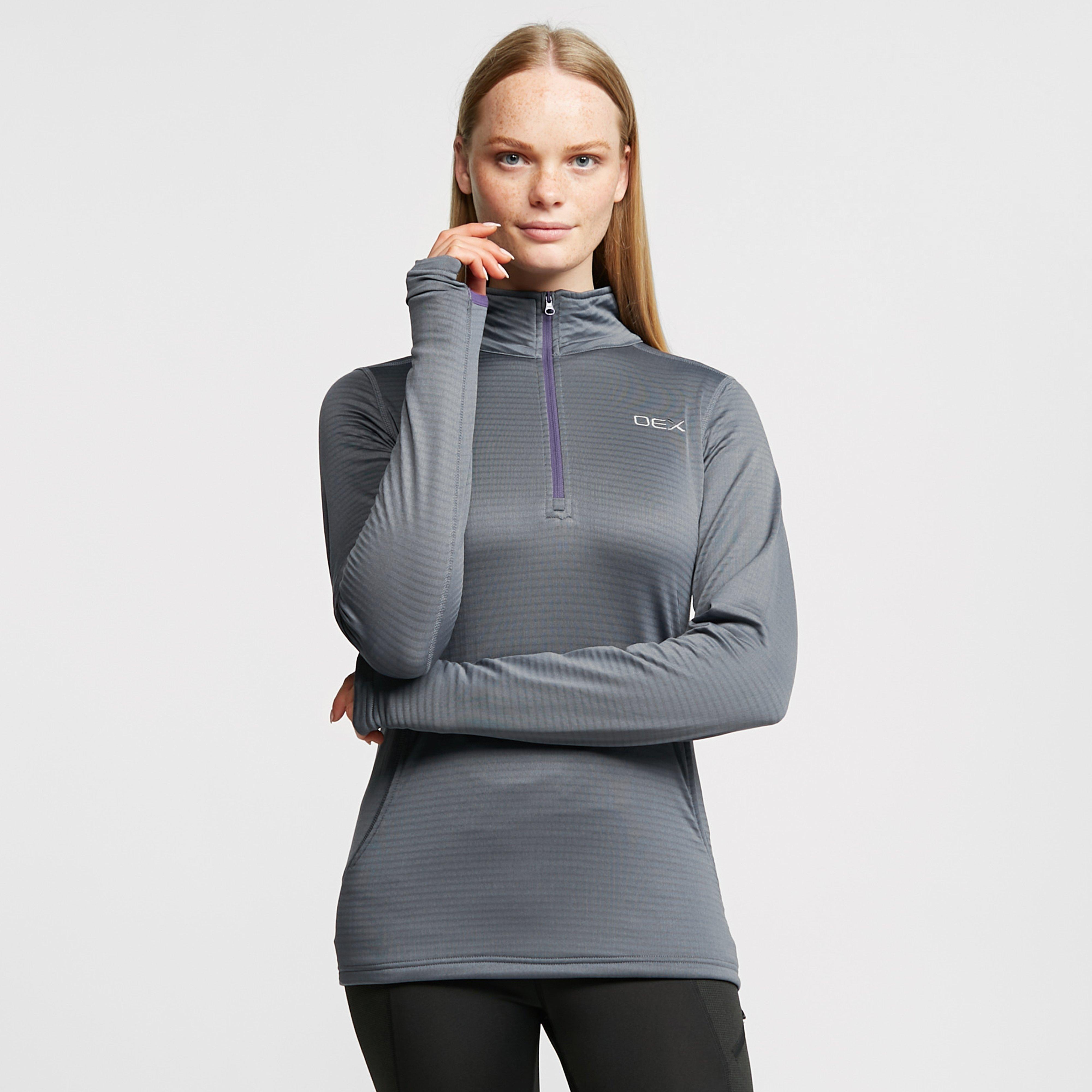 Oex Oex Womens Flint Half Zip Fleece, Grey