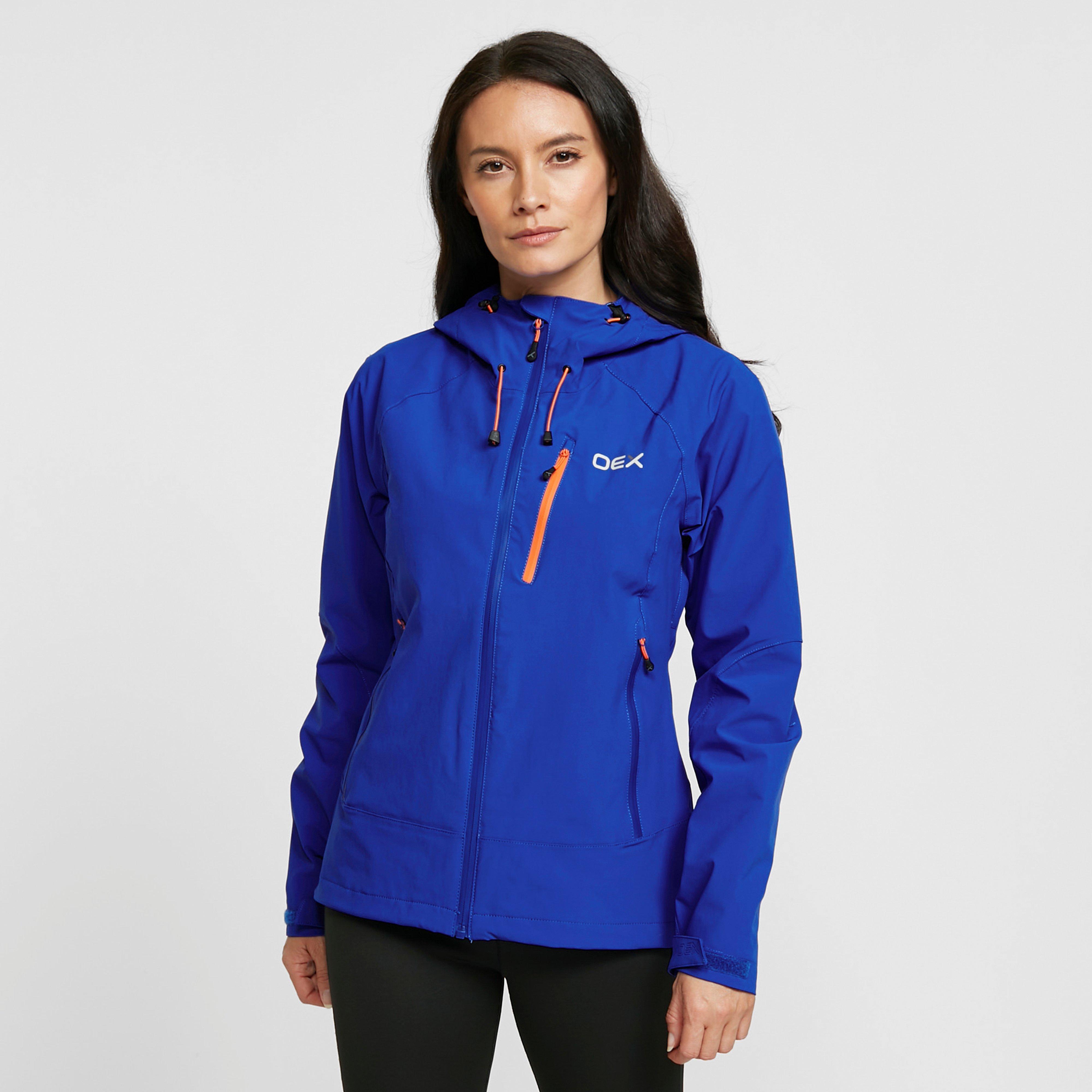 Oex Oex womens Fortitude Waterproof Jacket, Blue
