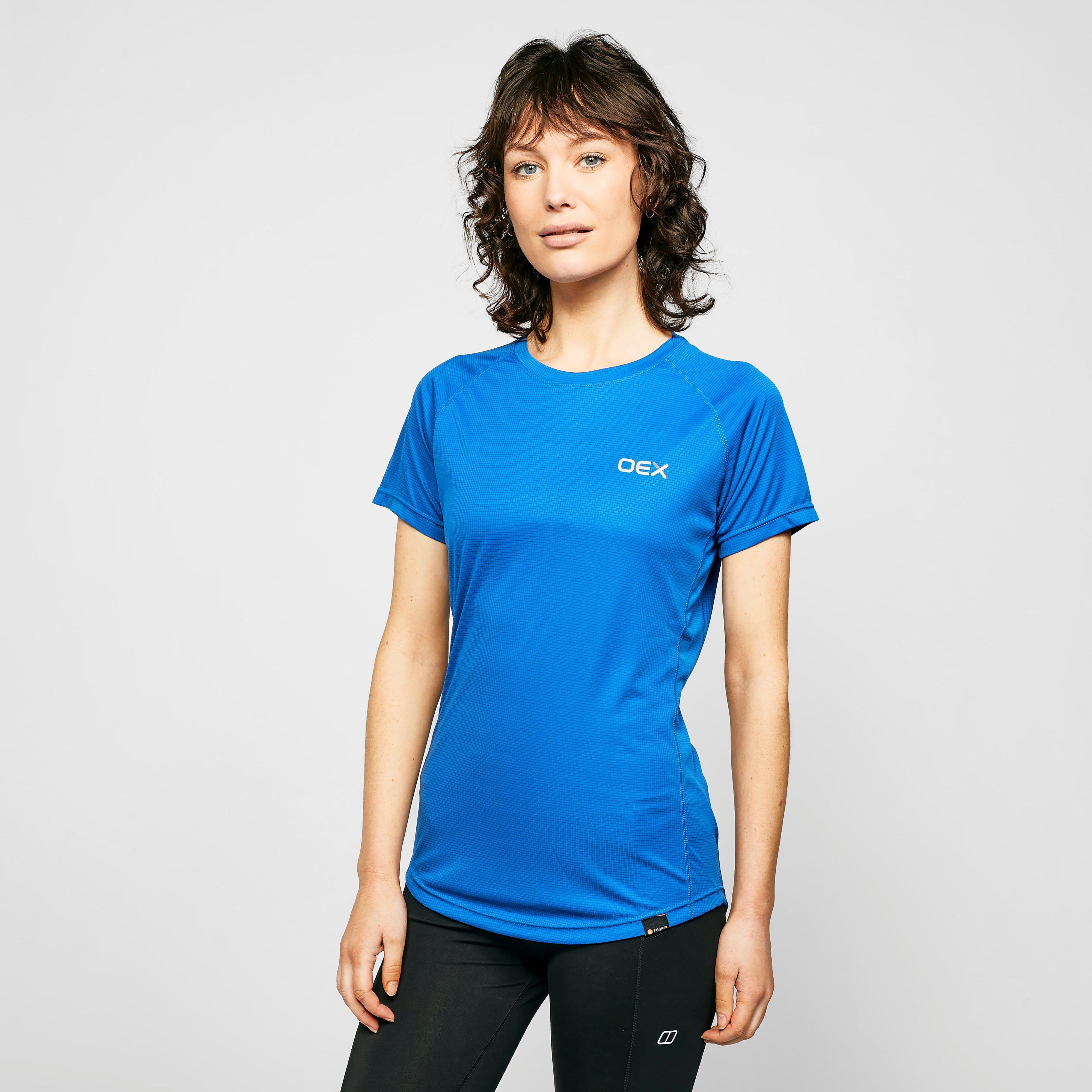 Oex Oex Womens Breeze Base Short Sleeve T-Shirt, Blue