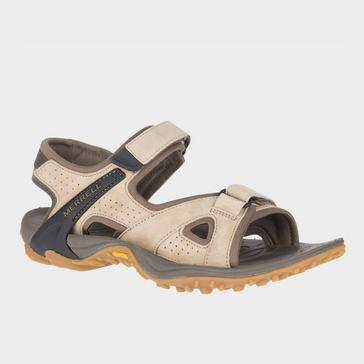 Beige Merrell Men's Kahuna 4 Strap Sandal
