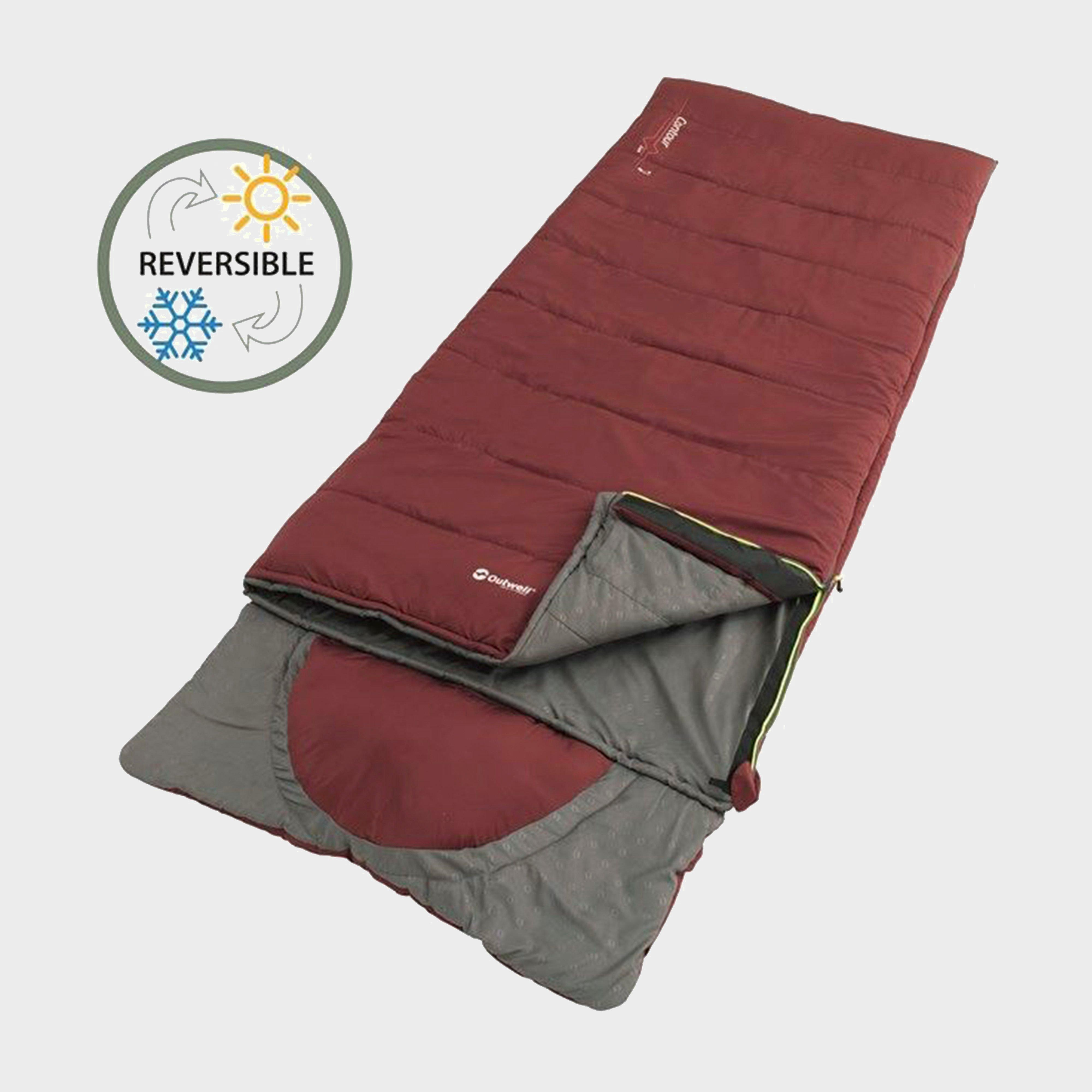 Outwell Outwell Contour Lux Sleeping Bag - Red, Red