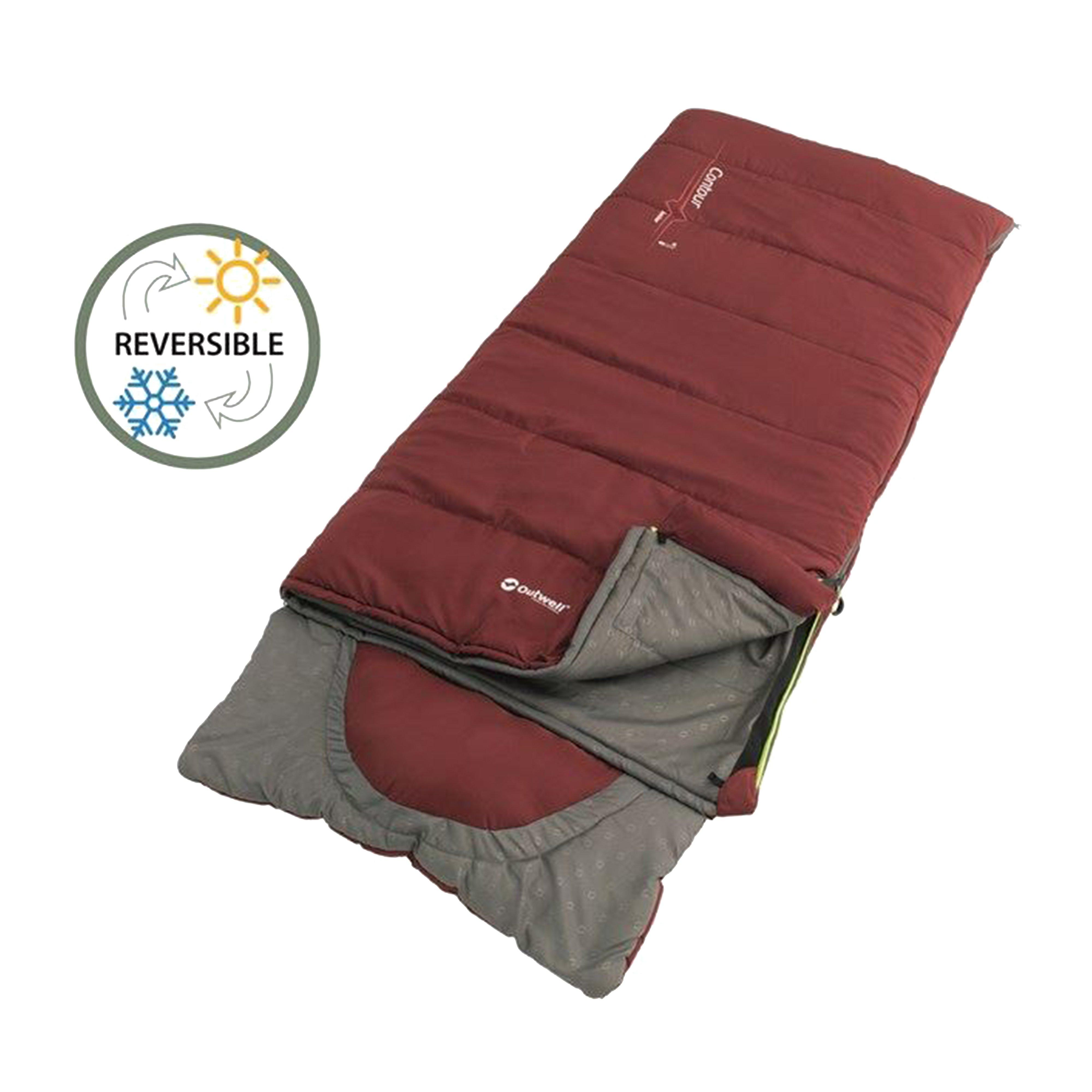 Outwell Outwell Contour Junior Sleeping Bag - Red, Red