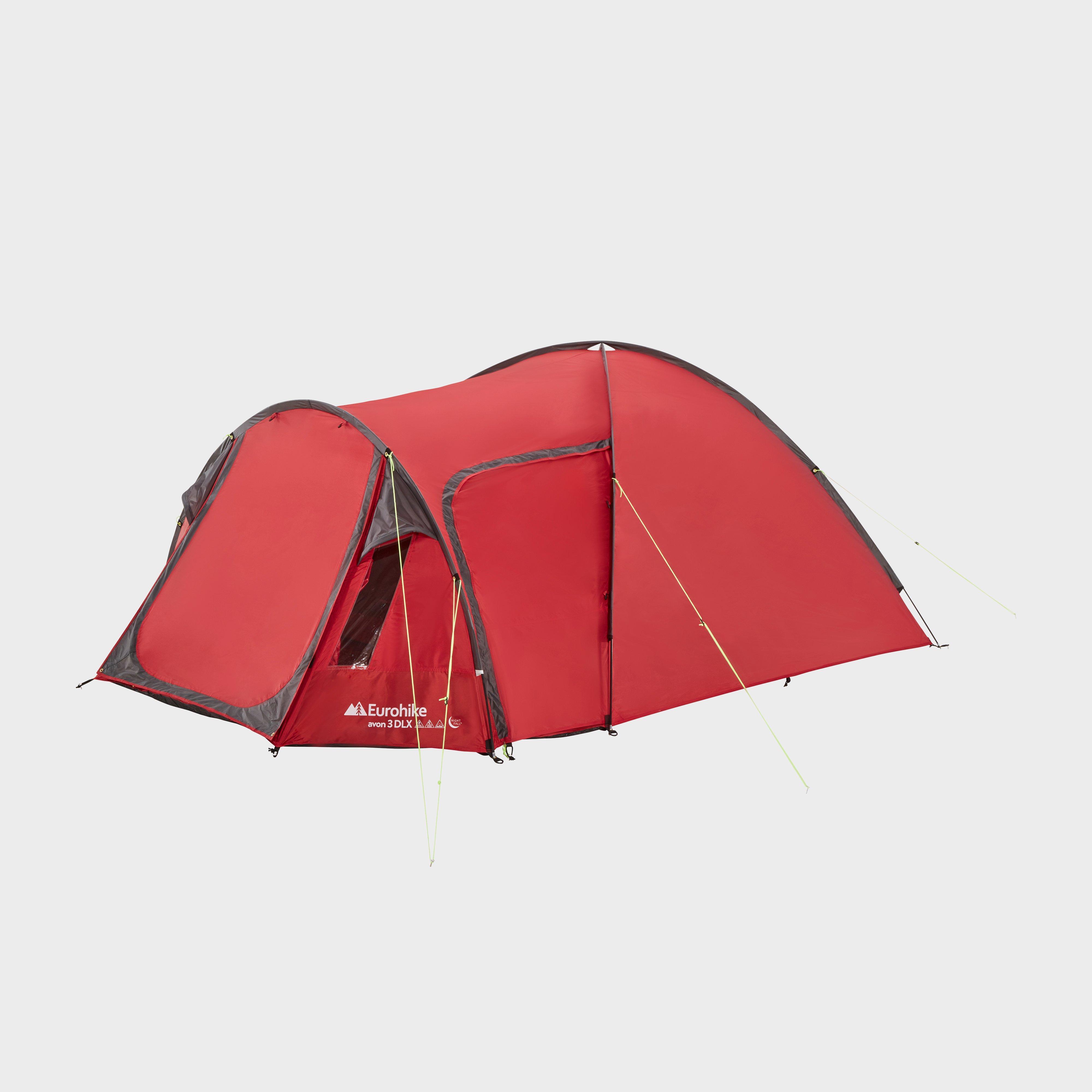 Eurohike Eurohike Avon 3 DLX Nightfall Tent, Red