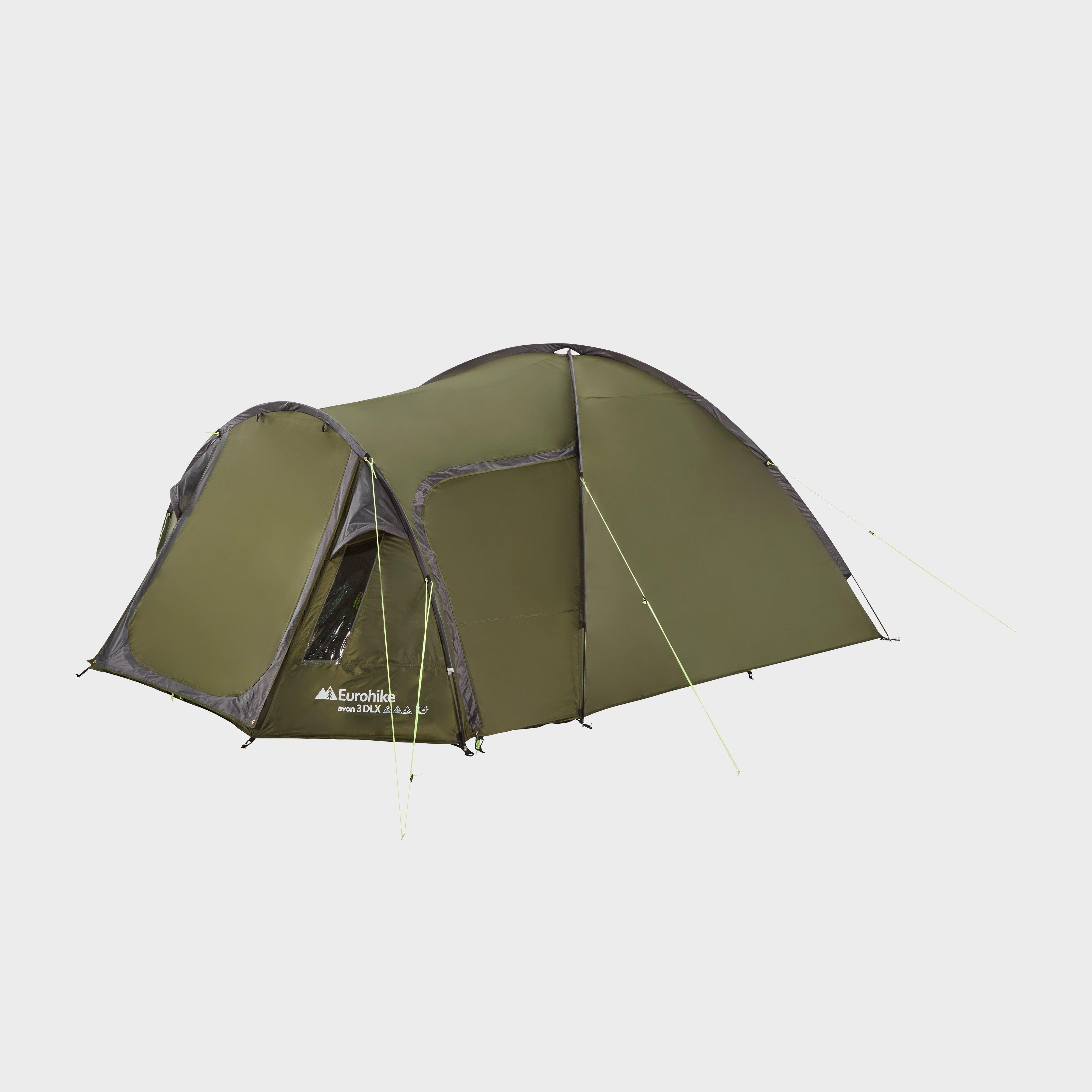 Eurohike Eurohike Avon 3 DLX Nightfall Tent, Green