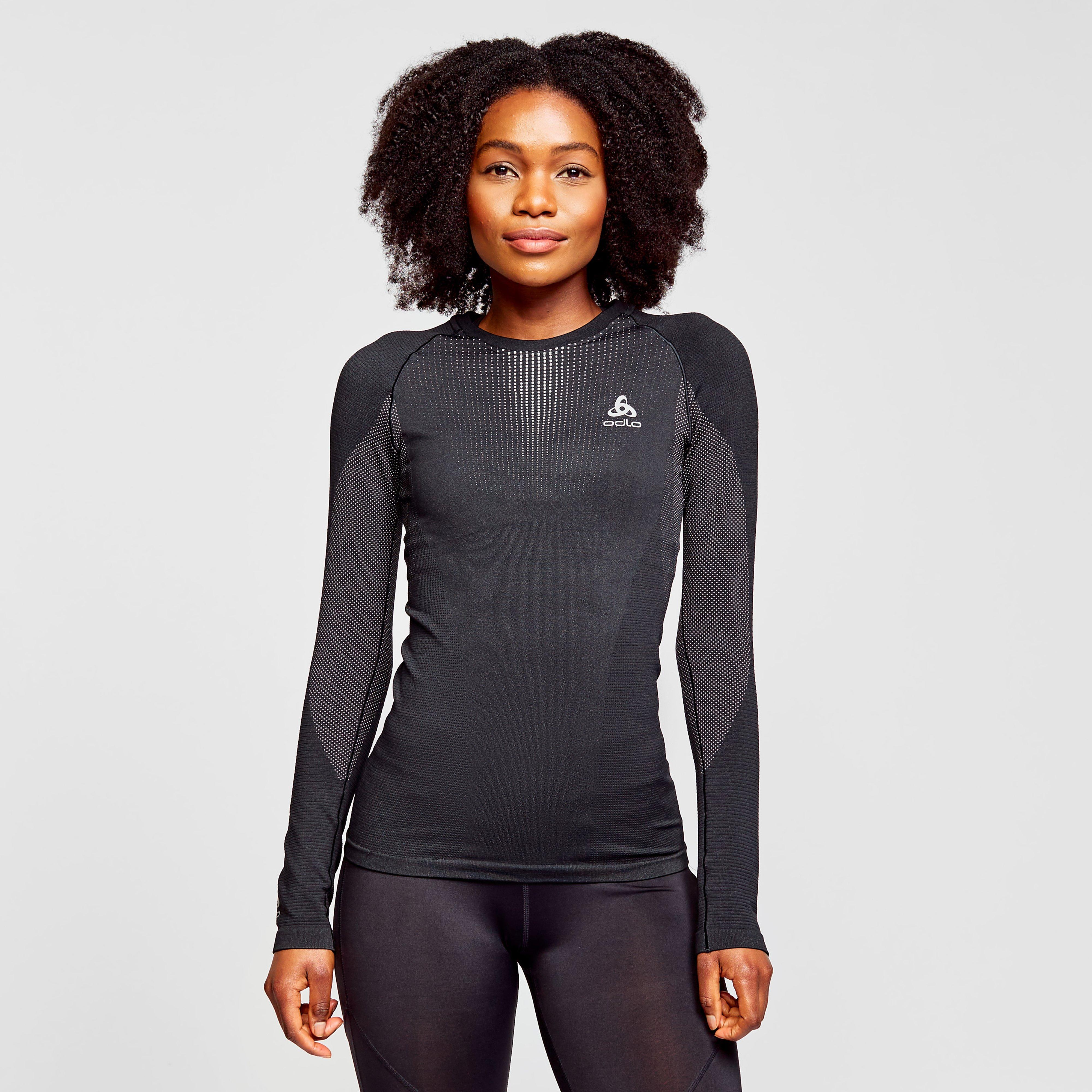 Odlo Odlo Womens Performance Warm Long Sleeve Base Layer Top - Black, Black