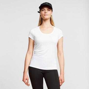 White Odlo Women's Active F-Dry Light Baselayer T-Shirt