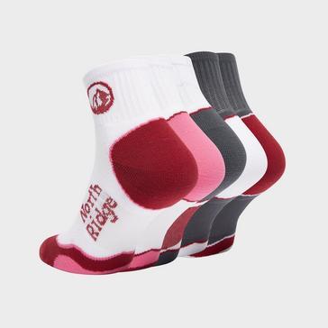 Multi North Ridge Women's Road Running Socks (5 pack)