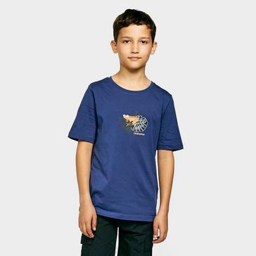 Blue Craghoppers Kids' Rubens Short Sleeved T-Shirt