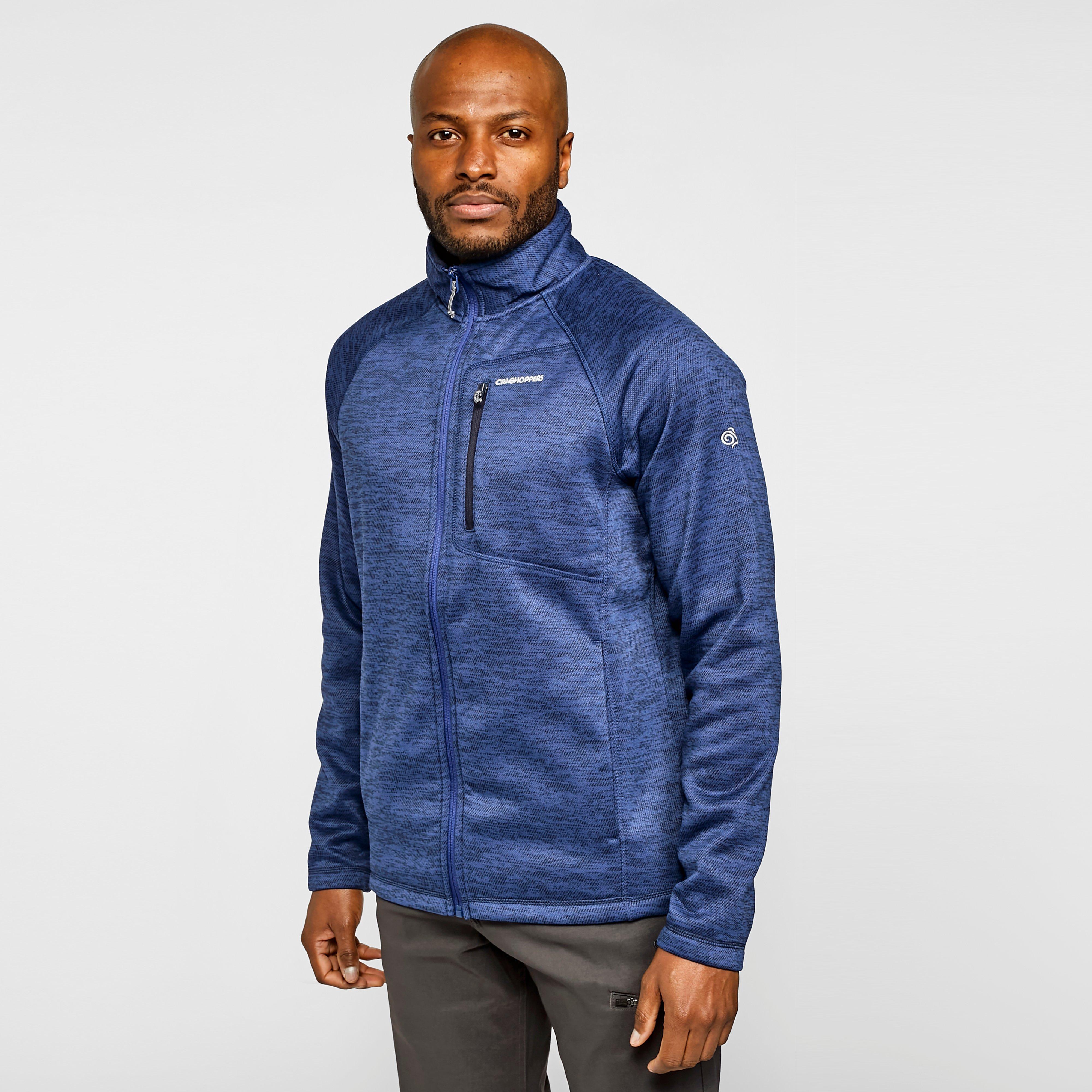 Craghoppers Men's Cranston Full Zip Fleece - Blue/Jacket, Blue