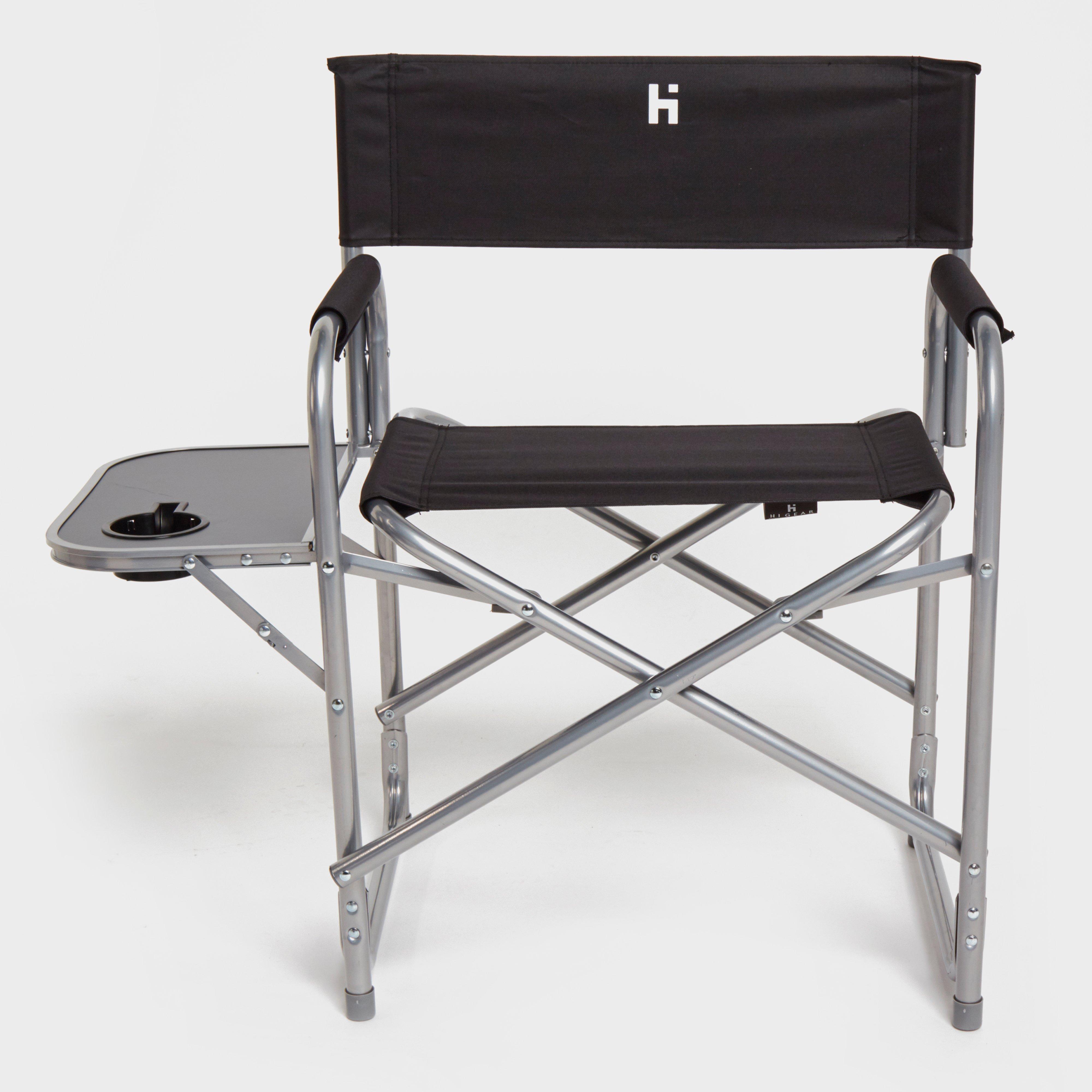 Hi-Gear Haddon Directors Chair - Black/Blk, Black
