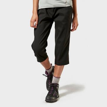 BLACK Craghoppers Women's Kiwi Pro II Cropped Trousers