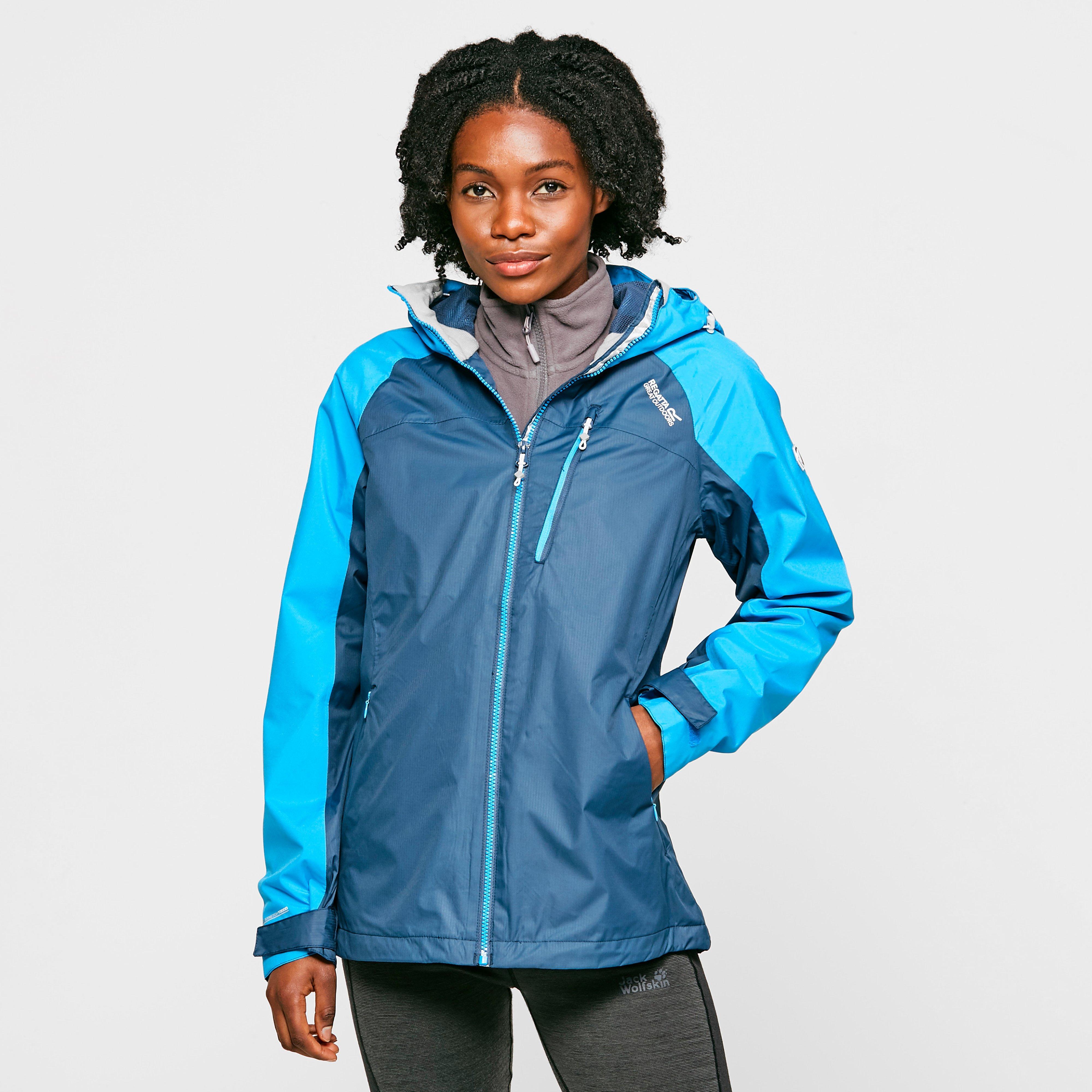 Regatta Women/'s Highton Stretch Waterproof Hooded Walking Jacket Blue