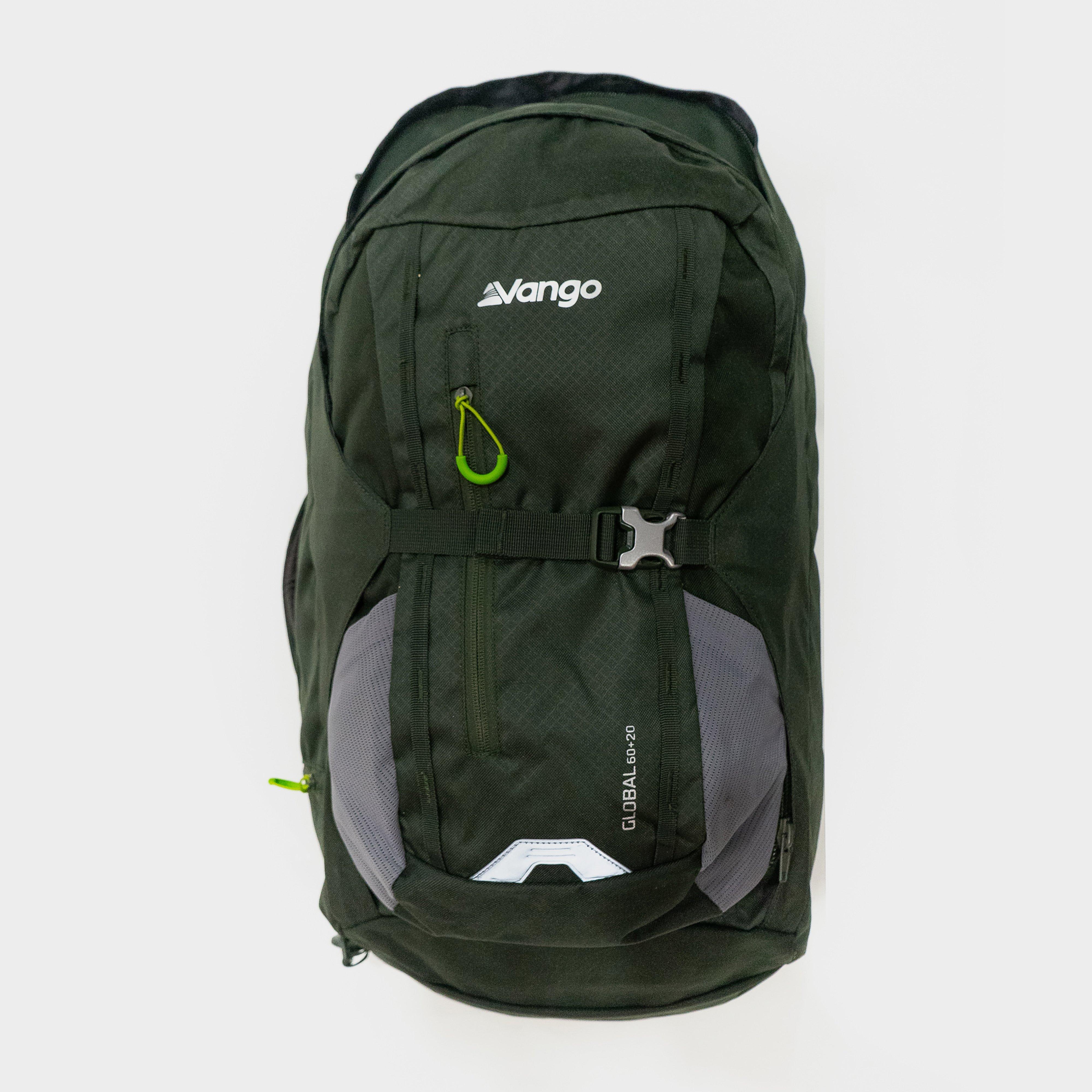 Vango Vango Global 60L + 20L Travel Backpack, Green