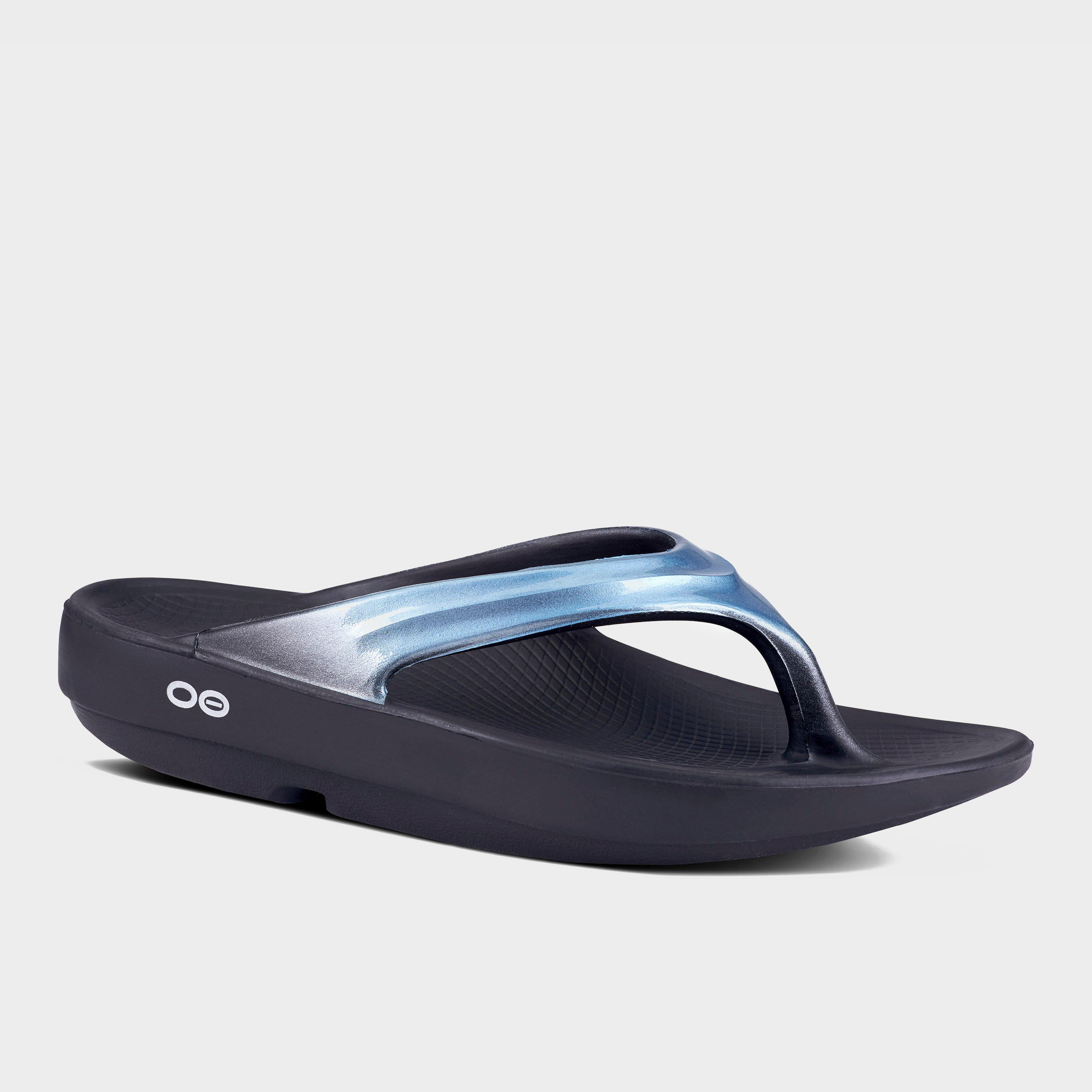 Oofos Oofos Womens OOlala Flip Flops, Blue
