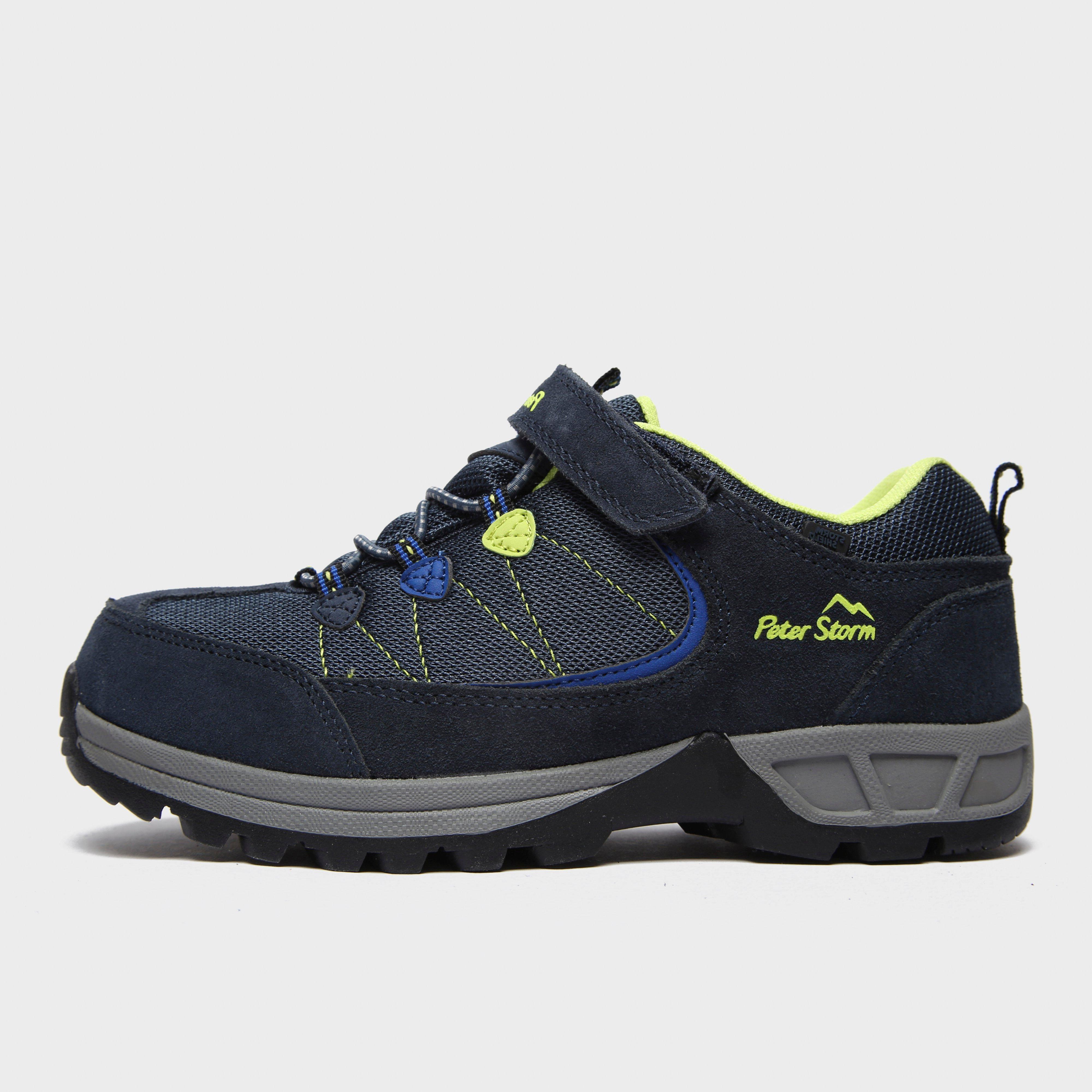 Peter Storm Kids' Harwood Ii Low Hiking Shoes - Blue/Dbl, Blue/Dark Blue