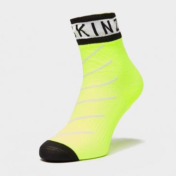 YELLOW Sealskinz Waterproof Warm Weather Ankle Length Socks