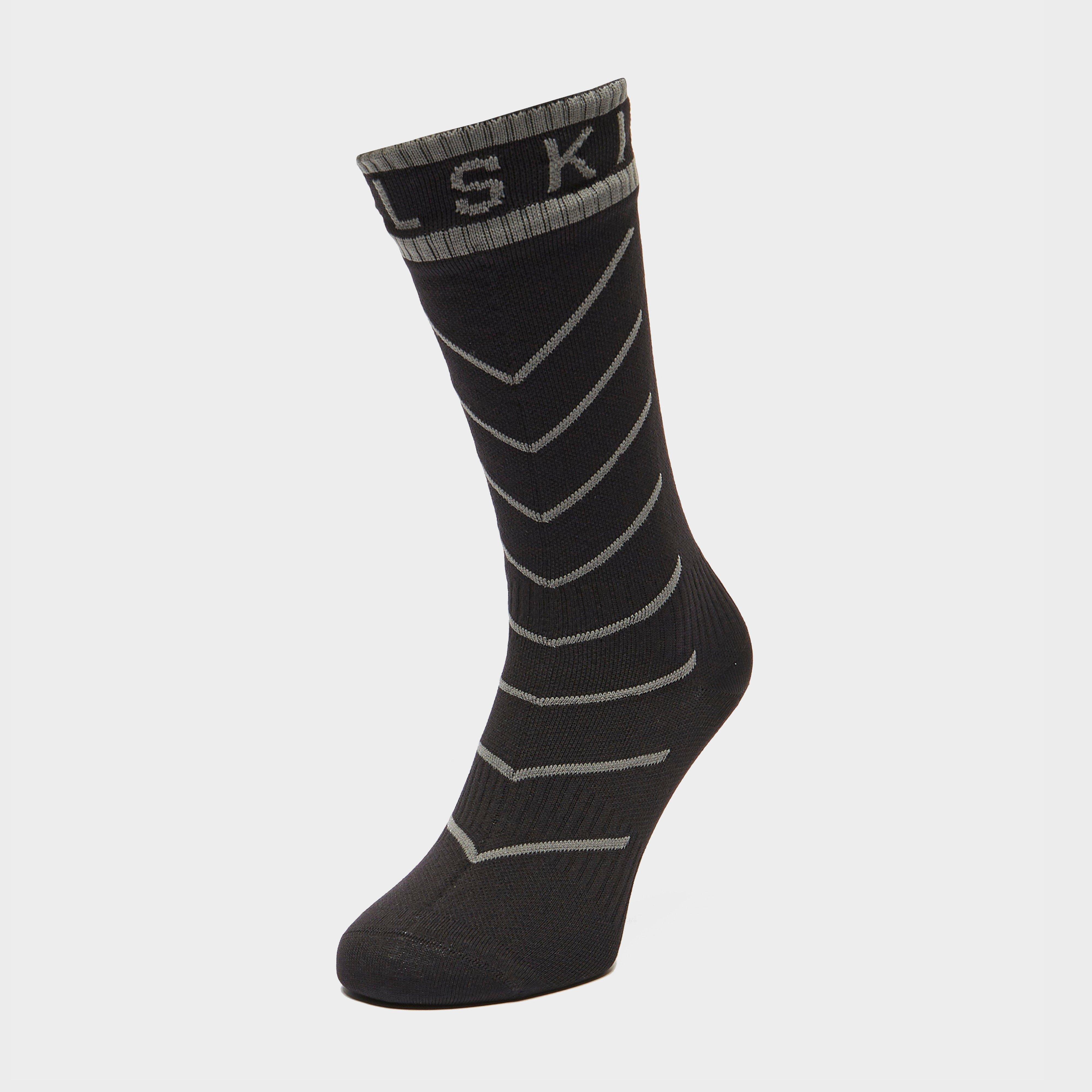 Image of Sealskinz Waterproof Warm Weather Mid Length Socks - Black/Blk, Black/BLK