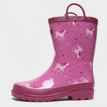 Pink Regatta Kids' Minnow Wellington Boots