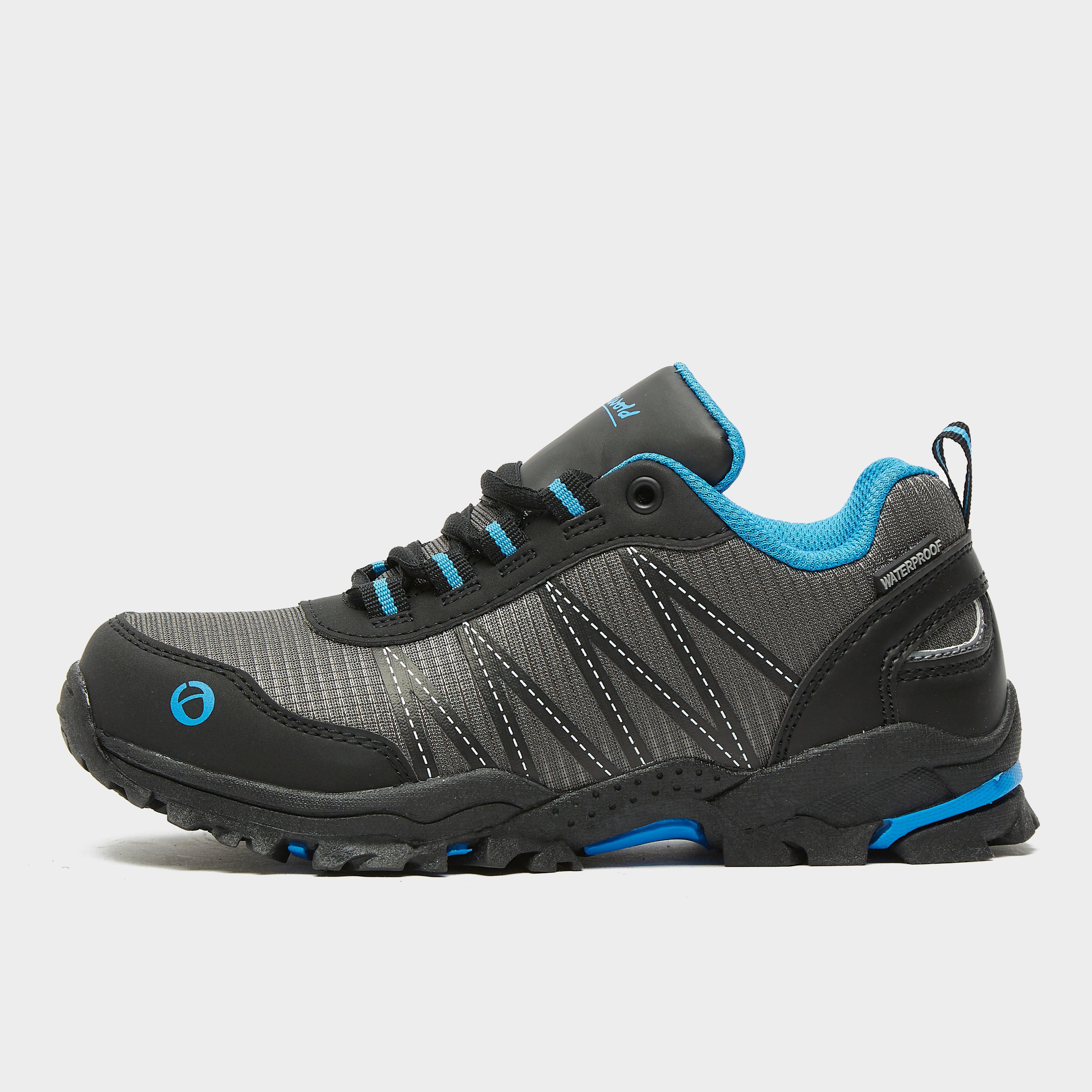Image of Cotswold Kids' Littledean Waterproof Walking Boots - Grey/Blu, Grey/BLU