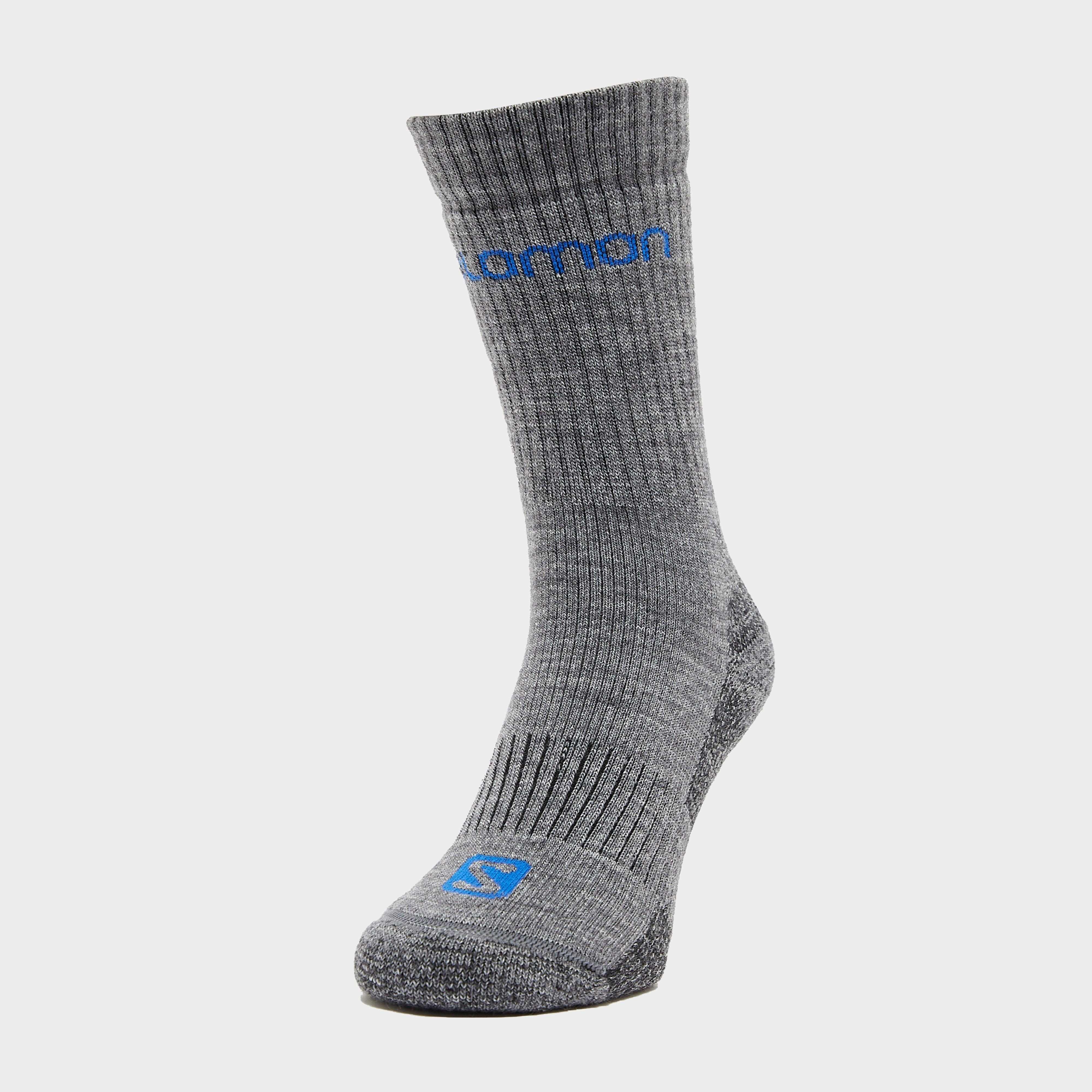 Salomon Socks Salomon Socks Mens Merino Socks 2 Pack, Grey