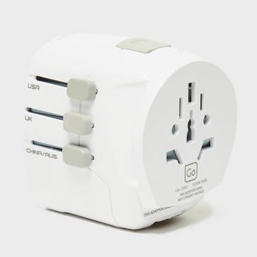 White Design Go DG Worldwide Adaptor + USB