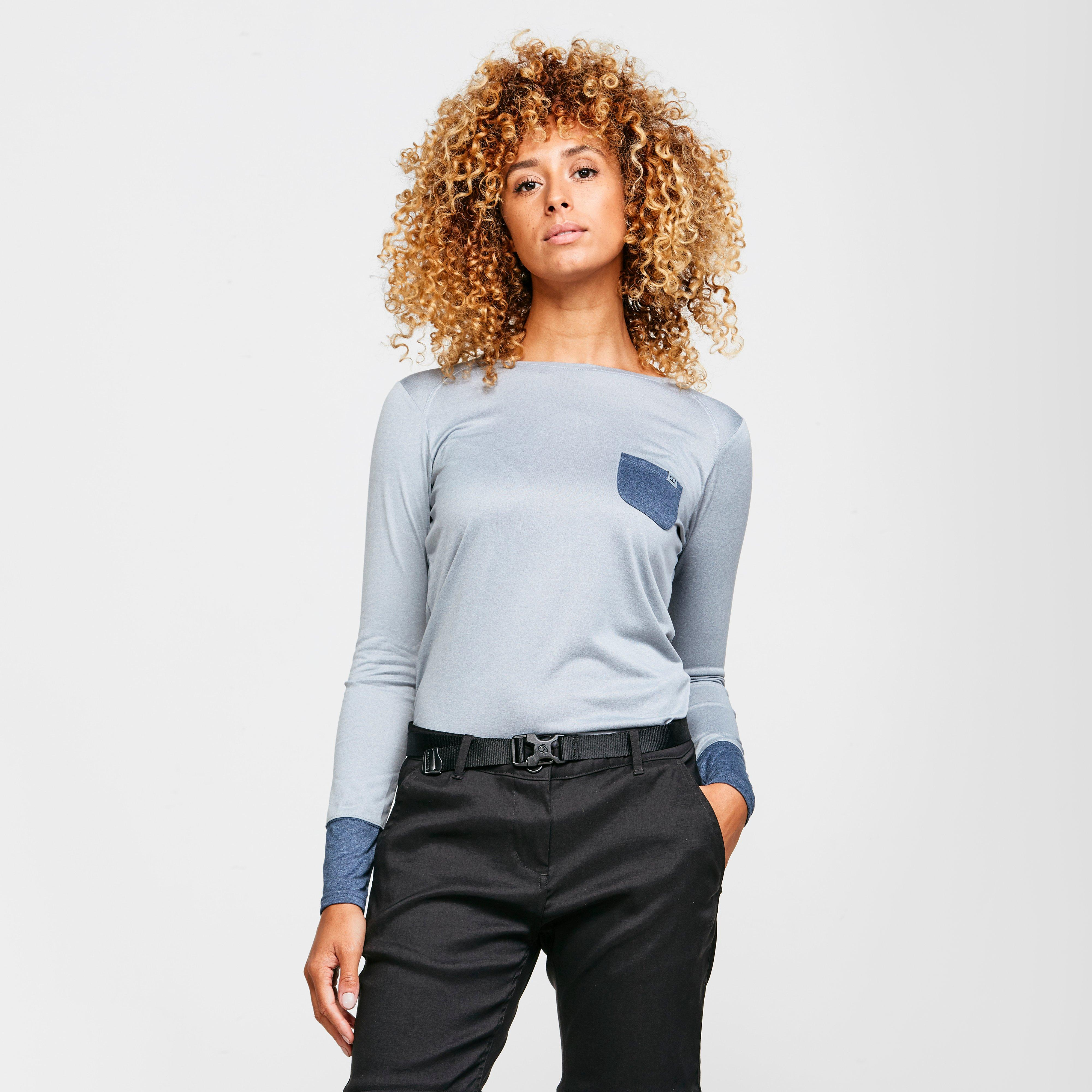 Berghaus Women's Explorer Long Sleeve Crew T-Shirt - Grey/Gry, Grey