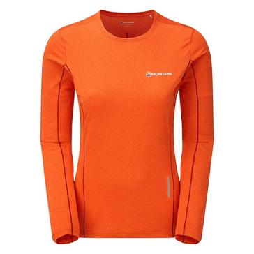 ORANGE Montane Women's Blade Long Sleeve T-Shirt