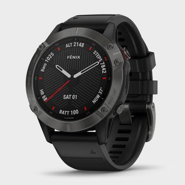 Black/Grey Garmin Fēnix 6 Pro Sapphire Multi Sport GPS Watch