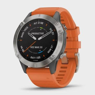 Orange Garmin fēnix 6 Pro Sapphire Titanium Multi Sport GPS Watch