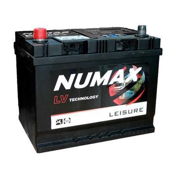 black NUMAX LV22MF 12V 75Ah Sealed Leisure Battery