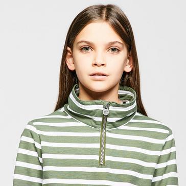Green REGATTA Kids' Benji Half Zip Fleece