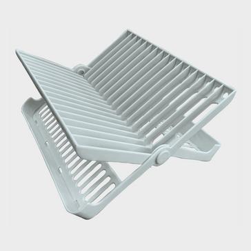 white Quest Folding Dish Draining Rack