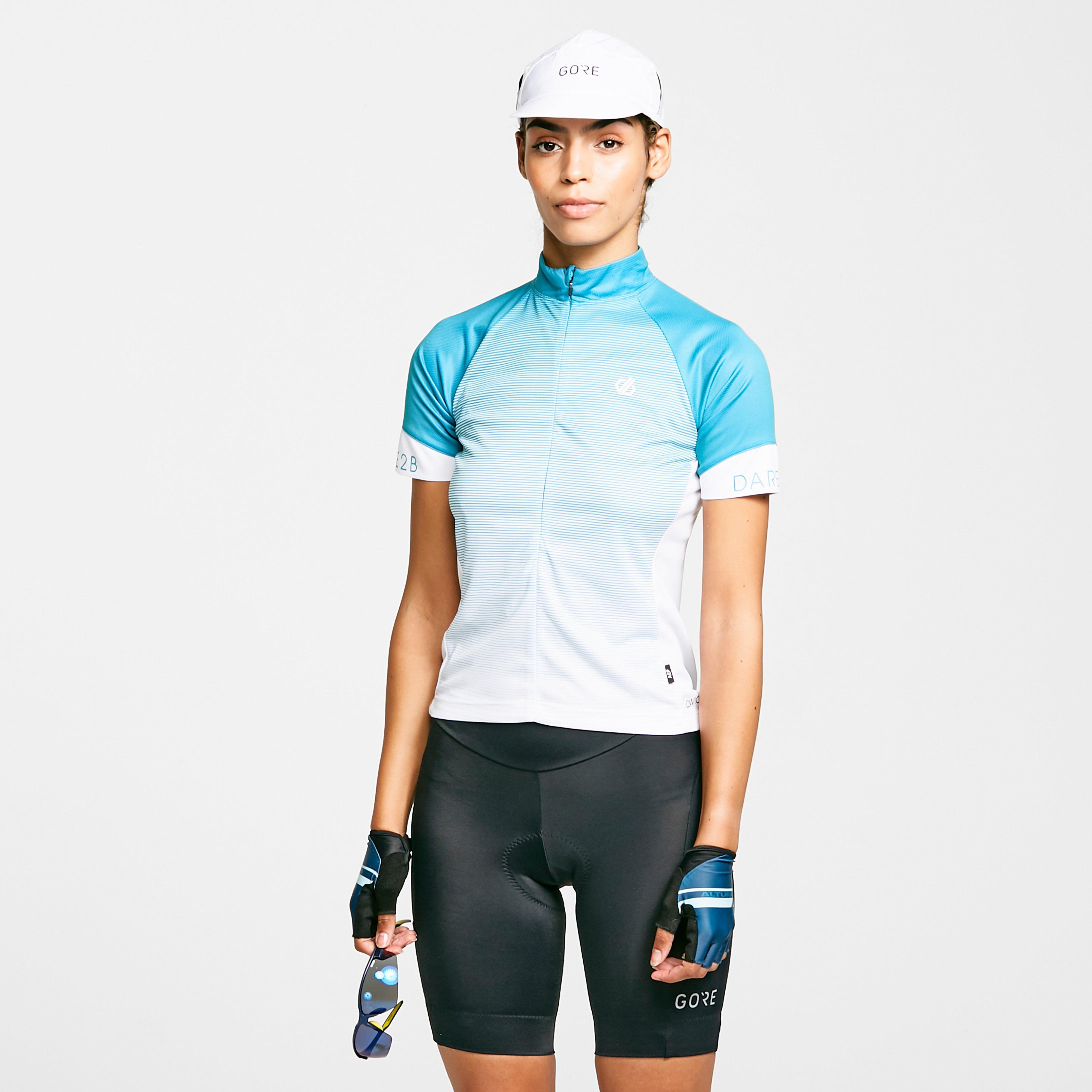 Dare 2B Women's Aep Elaborate Cycling Jersey - Blue/Blu, Blue