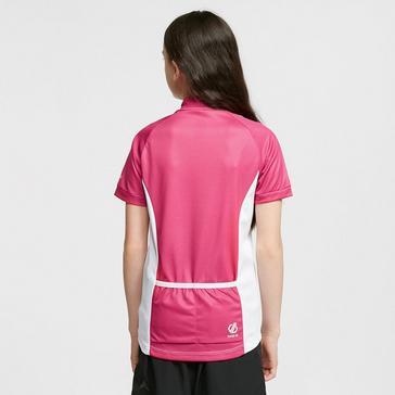 Pink Dare 2B Kids' Go Faster Half Zip Cycle Jersey
