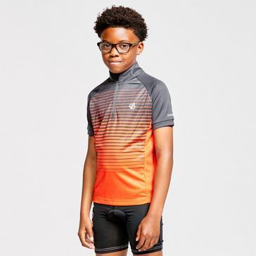 Grey Dare 2B Kids' Go Faster Half Zip Cycle Jersey